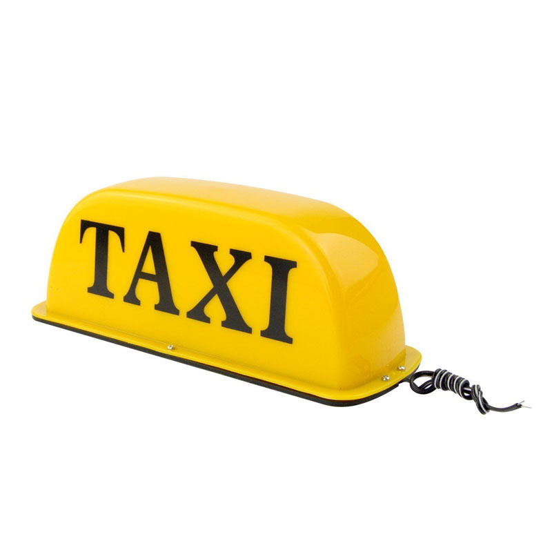 12V 10 inch Taxi Cab Sign Light Waterproof Super Bright Taxi Top Light Yellow 10w taxi roof light