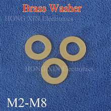 50Pcs M2 M2.5 M3 M4 M5 M6 M8 Meson Pad Sheet Metal Collar Brass Flat Washer washer pad gasket brass seal