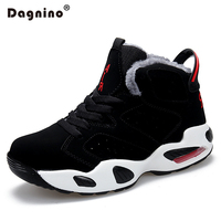 DAGNINO Couple Winter Warm Snow Boots Mens Rubber High Tops Plush Ankle BootsWork Casual Shoes Unisex