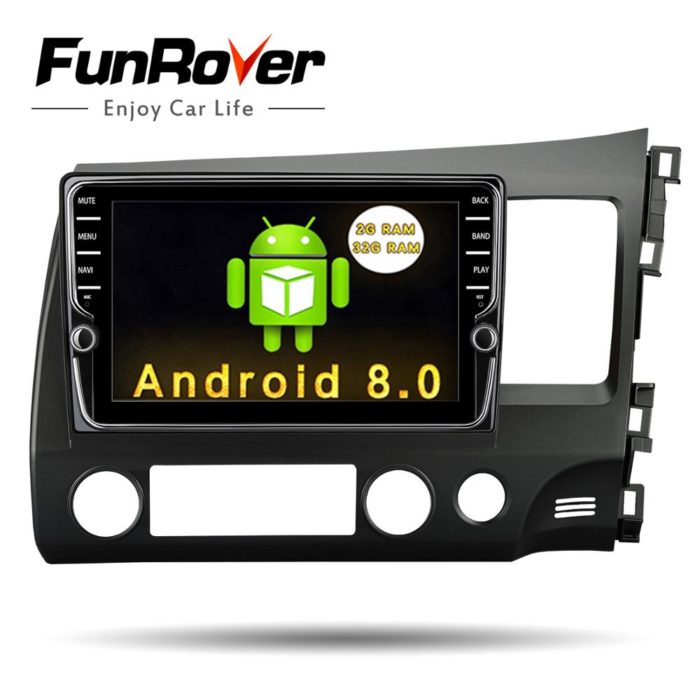 Funrover unique Car dvd Head Unit GPS Radio for Honda Civic RHD Civic 2006-2011 Right-hand Singapore India United Arab Emirates mxm fan meeting singapore