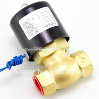 DN40 1 1/2BSPT 2Position 2Way NC Hi Temp Brass Steam Solenoid Valve DC 12V/24V AC 24V/110V/220V PTFE Pilot Piston US 40 2L 40