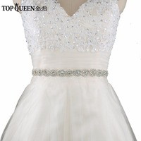 TOPQUEEN S28 Women's Crystal Rhinestones Bridesmaid Evening Party Gown Wedding Dresses Accessories Waistband Bridal Sashes Belts