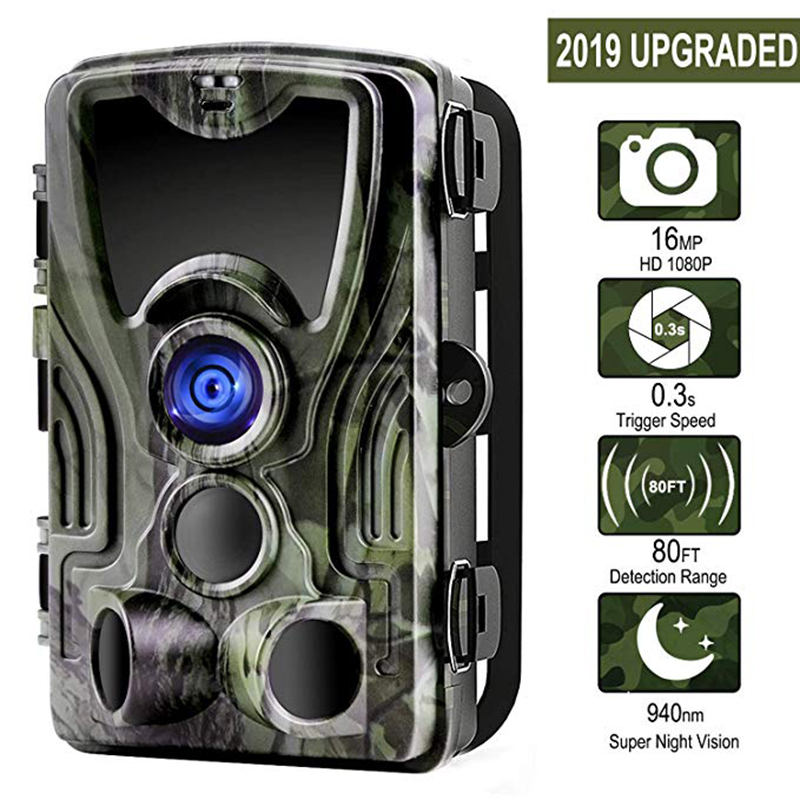 Suntekcam HC-801A+ 16MP 32GB Hunting Camera 1080P Trail IP65 Photo Traps 0.3s Trigger Time Wild For Hunter Night Vision