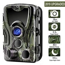 Suntekcam HC-801A + 16MP 32 GB охоты Камера 1080 P Trail IP65 фото ловушки 0,3 s Время срабатывания дикий для охотник Ночное видение