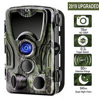 Suntekcam HC 801A+ 16MP 32GB Hunting Camera 1080P Trail IP65 Photo Traps 0.3s Trigger Time Wild For Hunter Night Vision