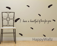 I Have A Heartful Of Love For You Love Quotes Wall Sticker DIY Decorative Love Quotes