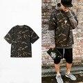 XXXL Kanye WEST Yeezus Temporada frete grátis 1 homens amantes soltos T-shirt camuflagem