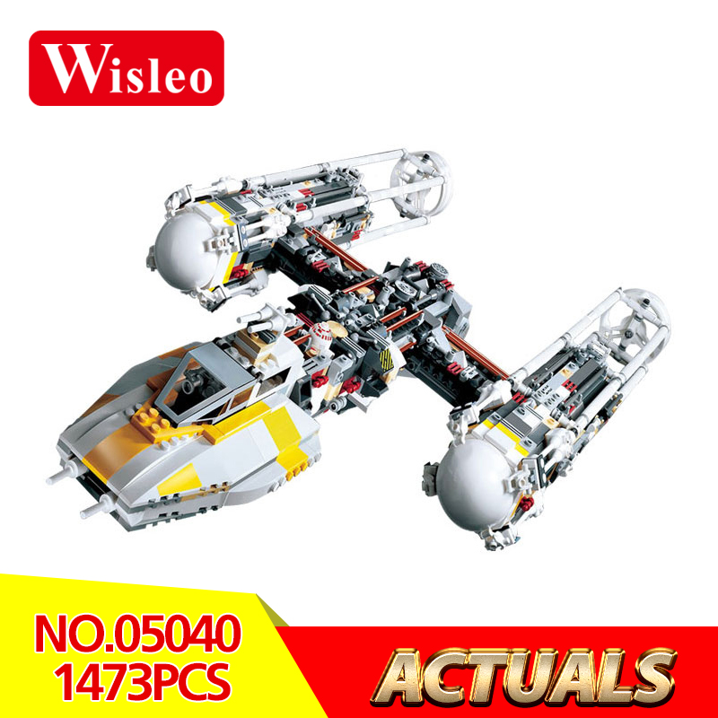 Wisleo 05040 Star Wars Series Attack Y Star wing starfighter model Building kits Block Assembled Brick Toy Gift LegoINGlys 10134 lepin 05040 y attack starfighter wing building block assembled brick star series war toys compatible with 10134 educational gift