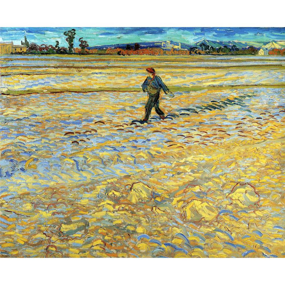 High quality Vincent Van Gogh modern art Sower Oil paintings reproduction hand paintedHigh quality Vincent Van Gogh modern art Sower Oil paintings reproduction hand painted