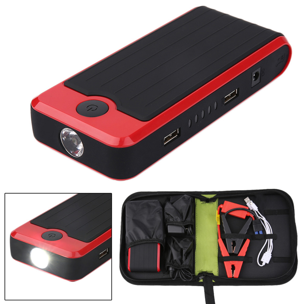 50800mAh Portable Mini Size Automatic Power Bank Battery Vehicle Emergency Charger Car Jump Starter Booster Red portable car jump starter 50800mah petrol car 12v emergency auto battery booster pack vehicle jump starter phone power bank