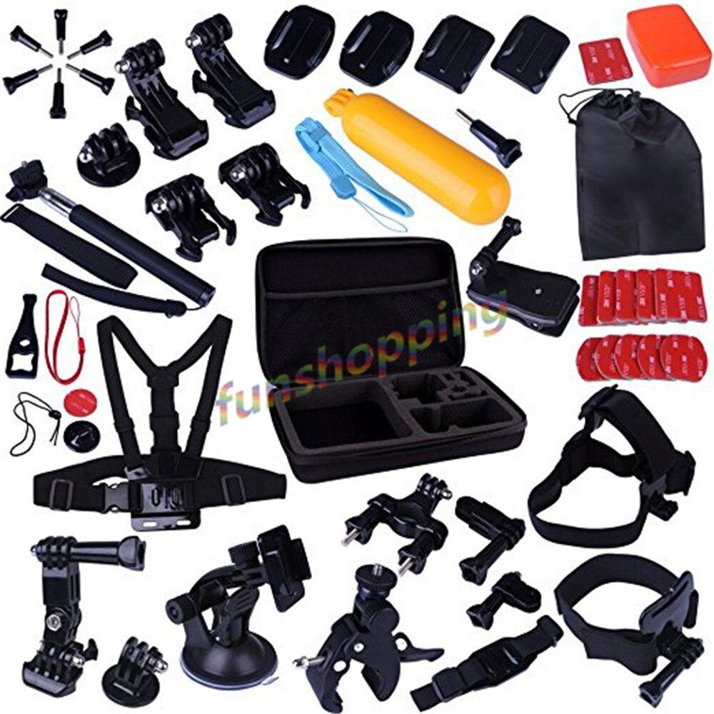 Accessories Kit for Gopro Camera with Case Bundles Kit for Gopro Hero 4 Session/3/2/1 Camera Accessory Kit for SJ4000 SJ5000 SJ6|kit delivery|kit radio|kit xenon h1 6000k - title=