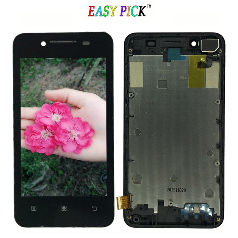 Black White For Lenovo A319 LCD Display Touch Screen Digitizer Assembly Replacement with frame