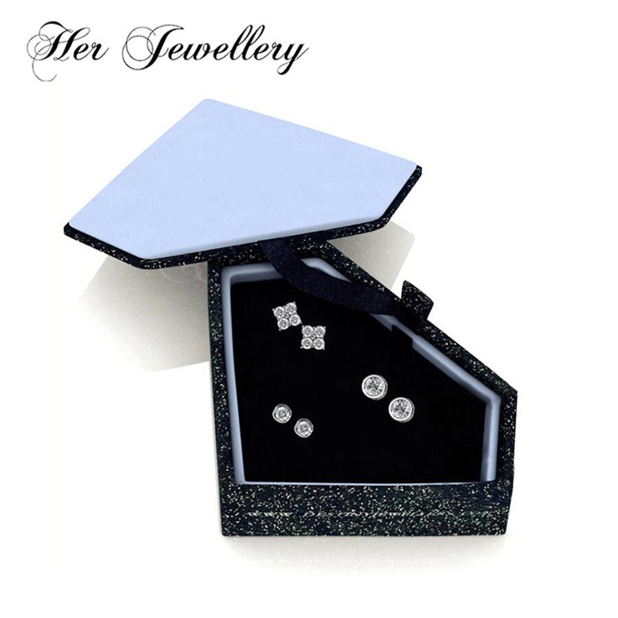 Her Jewellery 3 pair earrings set stud earrings african crystals jewelry set Made with crystals from Swarovski HS032