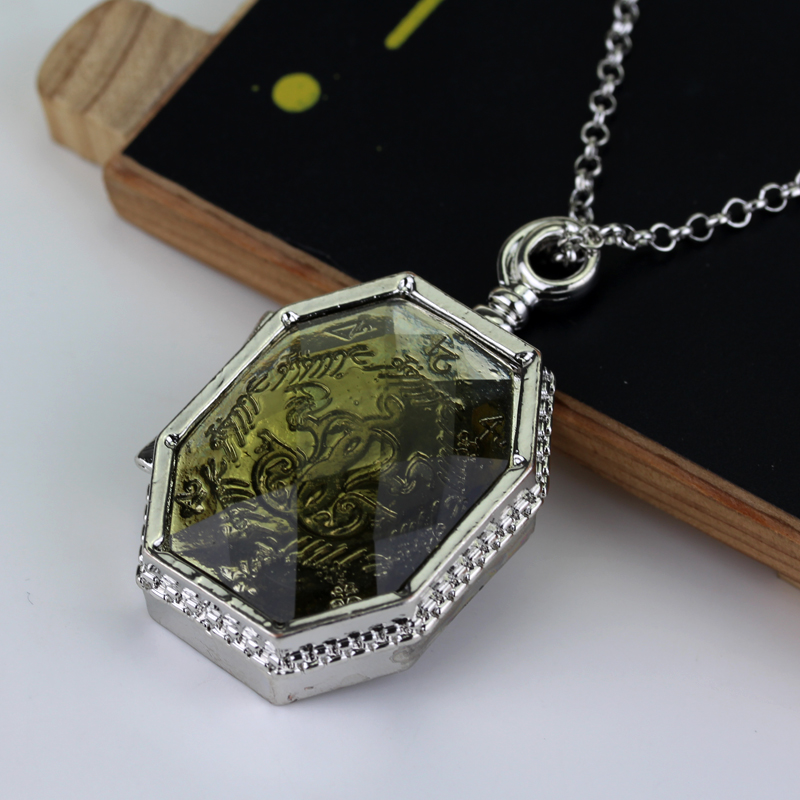 Image 2 - 20 pcs/lot Fashion Slytherin College Treasures Horcrux Locket Necklace Slytherin Box Horcrux Kit Necklaces Pendant Movie Jewelry-in Pendant Necklaces from Jewelry & Accessories