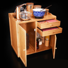 Removable tea racks multi-function small bamboo tea cabinet tea cabinet living room home automatic boiling water tea table
