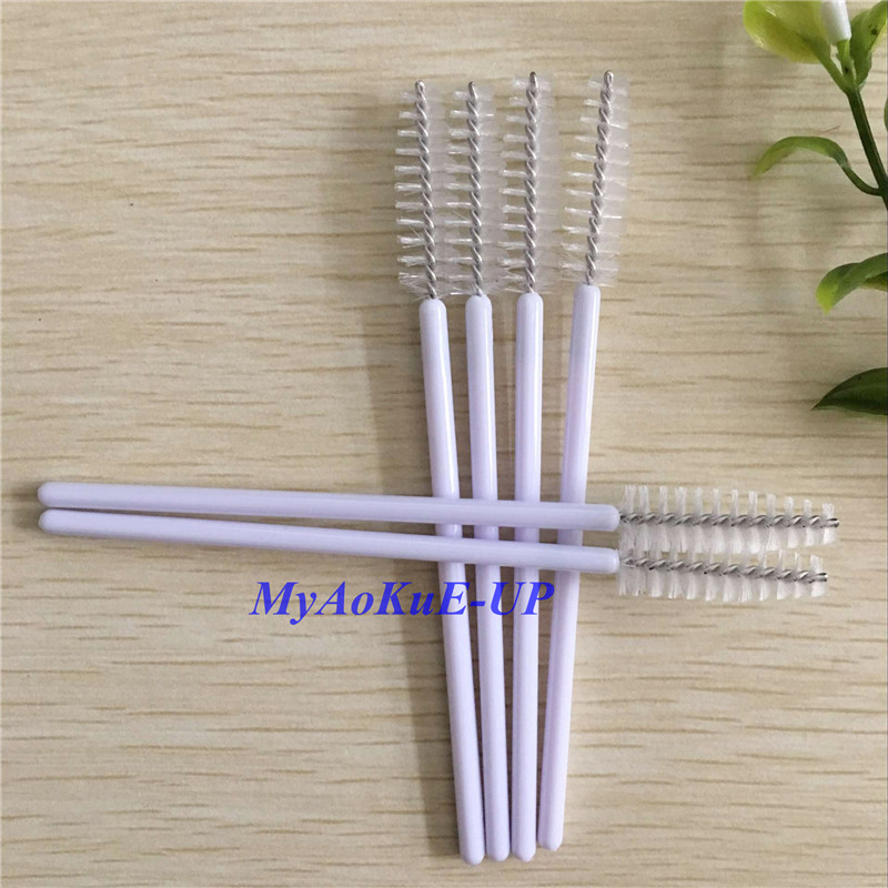 Cosmetic Comb Mascara Wands Applicator Spoolers White Color Disposable Eyelash Brush 1000 Pieces Nylon Beauty Makeup Brush Set