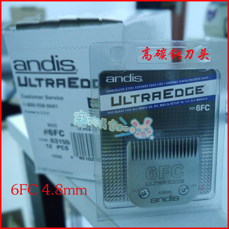 6F Ultra Edge Blade 4.8mm Fit Most Andis,AGC,AGR+,Oster Clipper Pet Grooming 1pc цена и фото