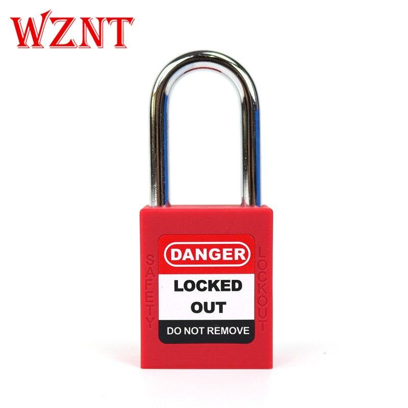 Différentes clés de verrouillage de sécurité cadenas verrouillage de sécurité hasp étiquettes de verrouillage de sécurité