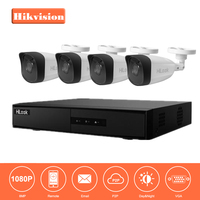 Hikvision 4CH 1080P Network POE NVR Kit CCTV Security System 4 0MP IP Camera Outdoor IR