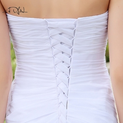 ADLN Stock Chiffon Wedding Dresses with Rhinestones Robe de Mariage Sweetheart vestido de noiva Cheap Beach Bridal Gowns 6