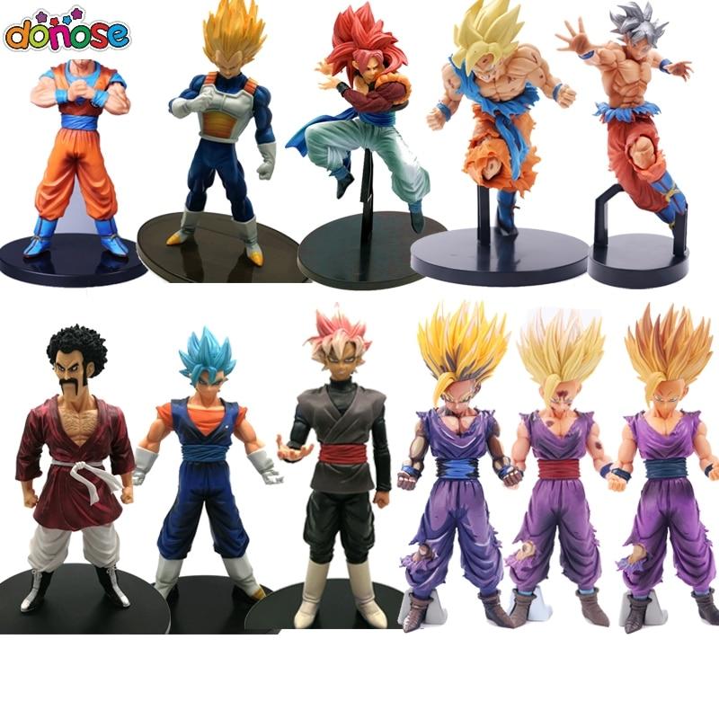 Dragon Ball Z Super Saiyan Son Goku Gohan Vegeta Figure Collection Toy Kids Gift