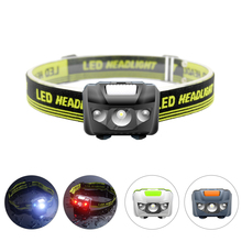 SOLOLANDOR mini Headlamp 4 Mode Red/White Light Flash LED Head light Camping Head lamp Travel mini hike Headlight AAA battery
