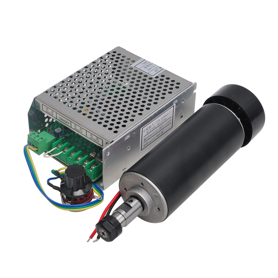 Air Cooled Spindle 500W DC 0-100V Spindle Motor+110V/220V Power Supply Speed Control For CNC Engraver Machine ToolsAir Cooled Spindle 500W DC 0-100V Spindle Motor+110V/220V Power Supply Speed Control For CNC Engraver Machine Tools
