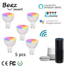 Smart Led Bulb GU10 Google Home Alexa LED RGBW Color Changing Wifi Spotlight Tuya 85-265V