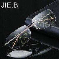 a3d44e2eb Rimless Eyewear Smart Zoom Titanium Progressive Reading Glasses Men Women  Presbyopia Hyperopia Multifocal Glasse. Óculos sem aro ...
