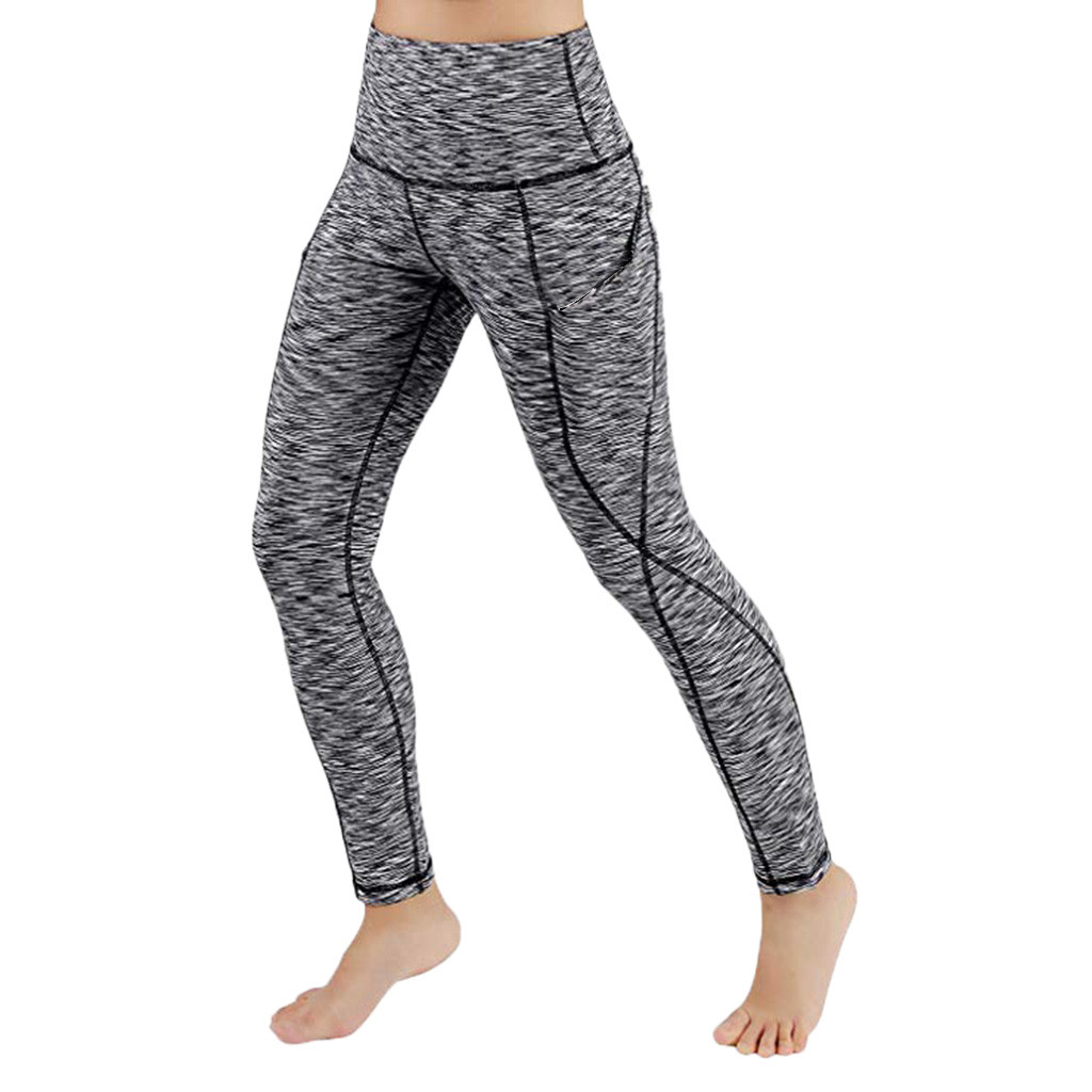 2019 Fashion Leggings Women Workout Out Pocket Clothing Fitness Sports Heart High Waist Leggins Female Mayas Para Mujer
