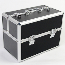 34 cm schwarz kosmetik kosmetiktasche koffer kosmetische werkzeugkasten schmuckschatulle aufbewahrungsbox nail art box