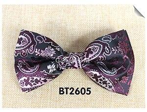 Мода кешью цветы Классический Боути для человека галстуки Регулируемая свадьба лук Галстуки полиэстер человека Bowties - Цвет: BT2605