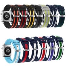 Haute qualité Bracelet En Silicone Bande De Sport pour Apple Montre Bracelet 38mm 42mm bande de montre pour iwatch Série 1 Série 2 Série 3
