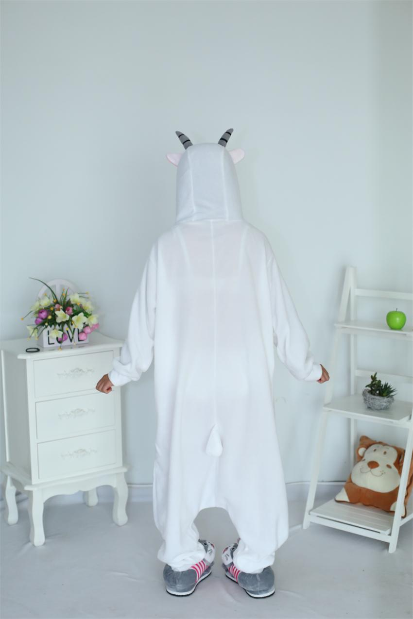 Rajzfilm felnőtt unisex kecske onesies pizsama gyapjú juh pizsama - Jelmezek - Fénykép 5