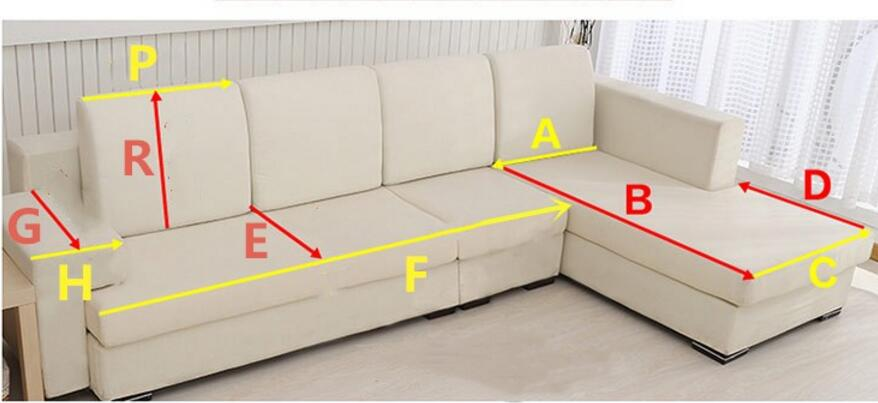 Thick Slip Resistant Couch Cover for Corner Sofa Made with Plush Fabric Including Lace for Living Room Decor 6