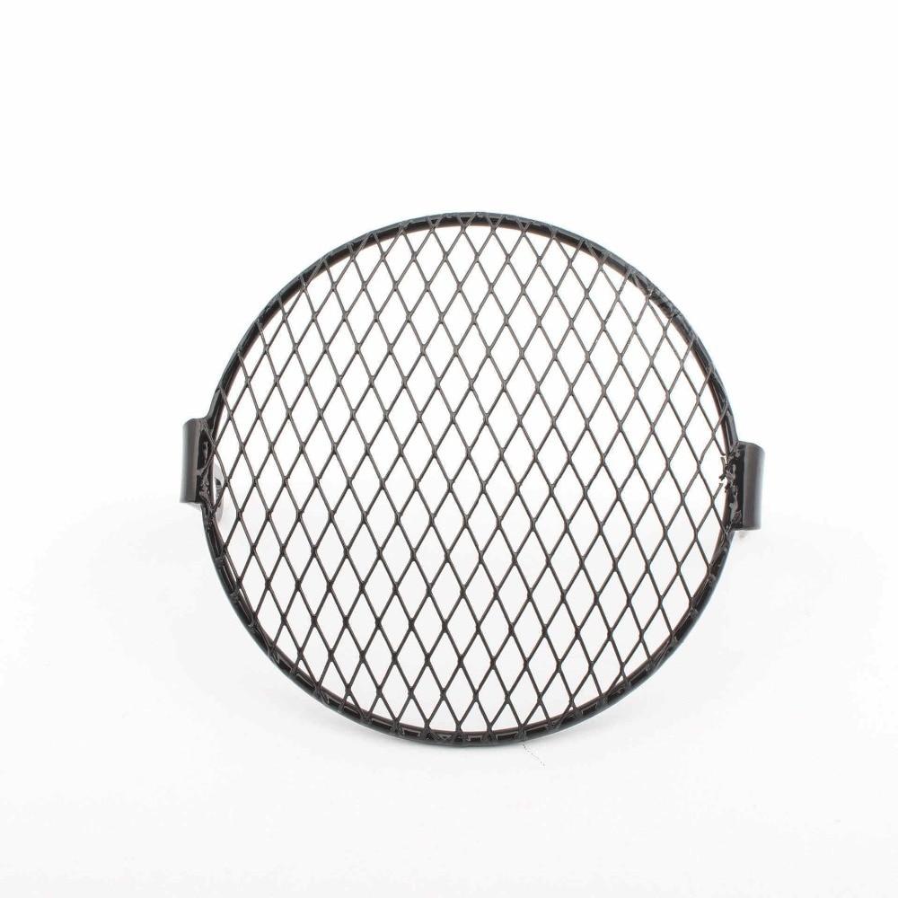 Metal mesh grill faro Protector Guard copertura per motorcycle-black 16/cm
