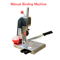 Manual Binding Machine With Knife Financial Credentials Document File Binder Manual Drilling Machine