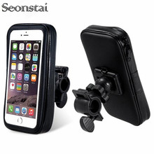 Bicycle Motorcycle Phone Holder Telephone Support For Moto Bag For iPhone Xs Max 8 Plus SE S10 GPS Bike Holder Waterproof Bag