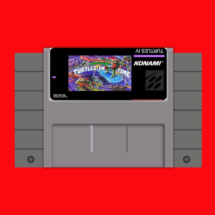 Schildkröten in Zeit 16 bit Großen Grauen Spielkarte Für USA NTSC Spiel Player