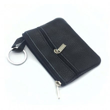 Casual Women Housekeeper For Home Fashion Leather Key Wallet Slim Coin Pouch Case Man Car Holder Keyring Organizer(China)