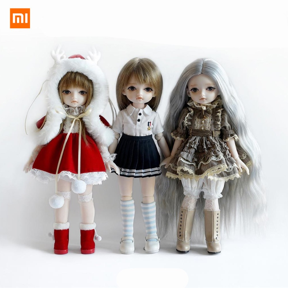 Xiaomi Mijia Monst BJD Doll Simulation Moe Ragdoll Joint Body Fashion Collecting Doll 30cm Factory Dolls