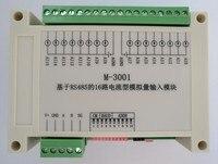 Módulo de Aquisição de entrada PLC Extensão IO para 16 Rs485 modbus canal 4 ~ 20mA Quantidade Analógica Contadores     -