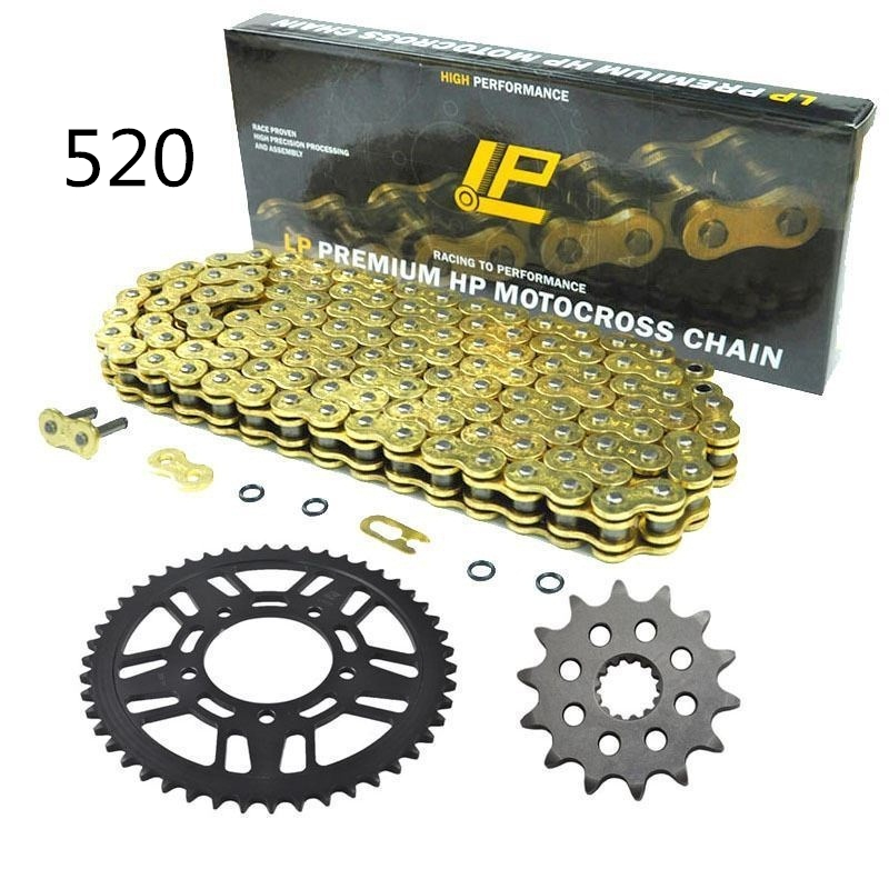 For YAMAHA WR400 1999 2000 2001 14T/50T Motorcycle front rear sprocket 520 chain Pitch links Drive Motorbike Chain Sprocket Set цена