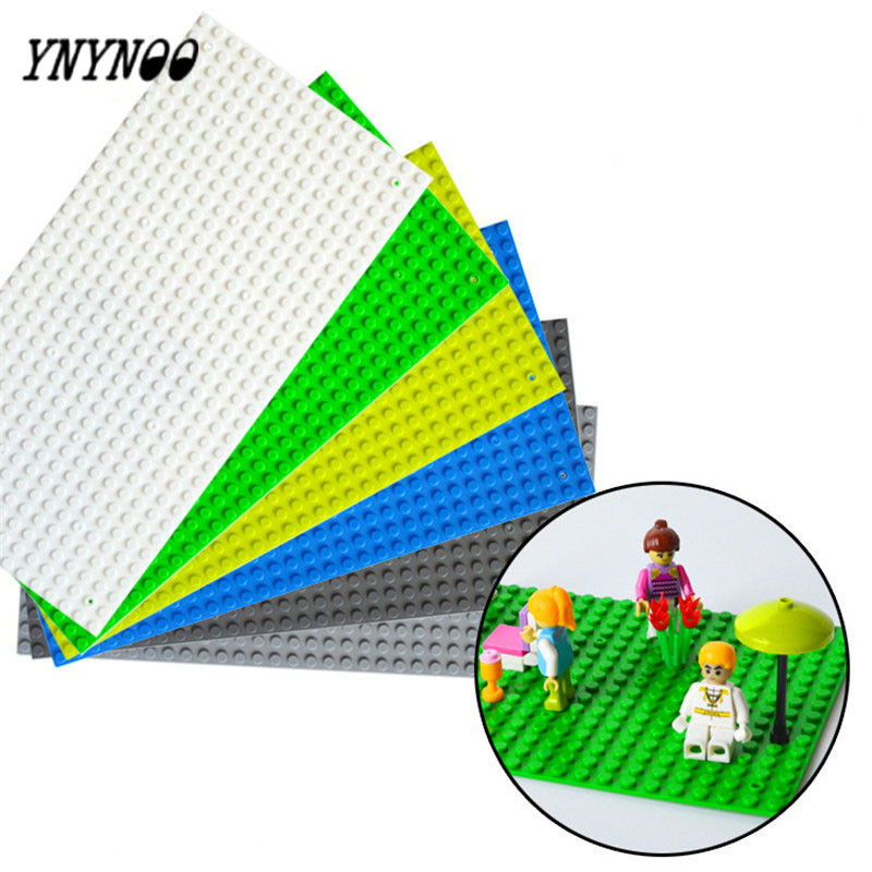 YNYNOO NEW COMPATIBLE WITH DIFFERENT PARTICLES BLOCKS BASEPLATES SMALL DOTS 16*32 MINIS BRICKS PARTICLES BASEPLATE 25*13CM TOY