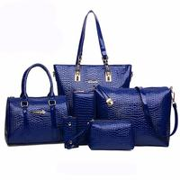 Purse Women Bag Shoulder Hobos Handbag 6Pcs Kit Leather Casual Pocket Artificial Kit Slot 6Pcs Tote Interior Satchel
