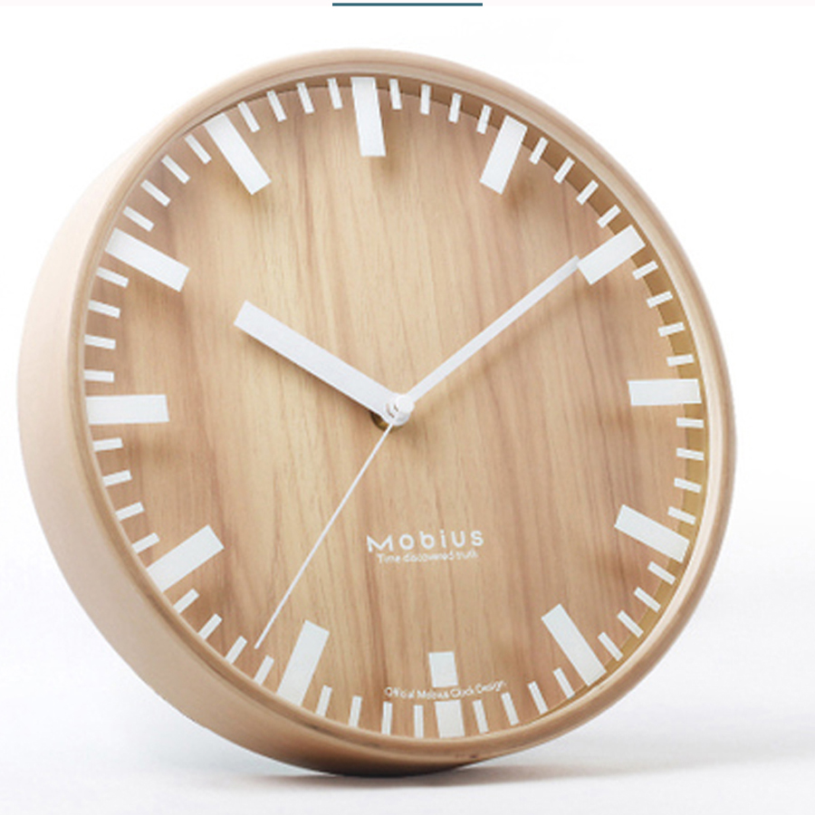 Small Art Wall Creative Clock Personalized Mute Living Room Wall Clock Home Decor Wooden Relojes Pared Modern Clock 50A0807