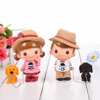 Hot Sale 3 Types Cute Cartoon Kids And Pet Dogs Resin Decoration Figure Ornaments Home Decoration
