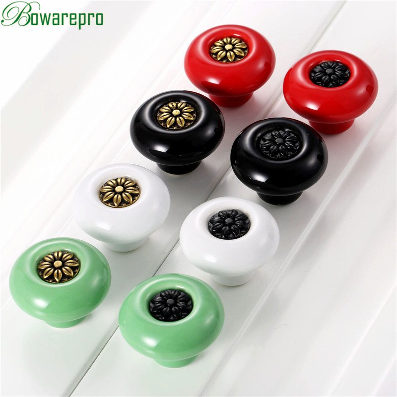bowarepro 8PCS Ceramic Door Knob For Kids Children Cupboard Cabinet Drawer Pull Handles Furniture Cartoon Knob Door New Style vintage bird ceramic door knob children room cupboard cabinet drawer suitable kitchen furniture home pull handle with screws