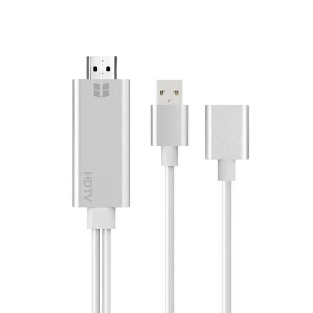USB หญิงถึง HDMI Adapter, ปลั๊กแปลงสายสำหรับ iPhone iPad มาร์ทโฟนแท็บเล็ต HDMI HDTV