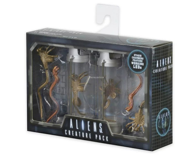 Alien 2 Creature Pack Stasis Chanber LED Light Figure Collectible Toy 18cm
